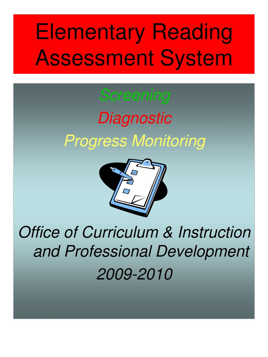 elementary reading assessment system l.