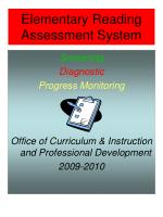 elementary reading assessment system