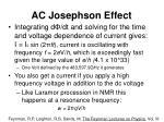 ac josephson effect