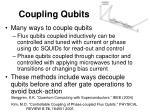 coupling qubits