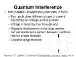 quantum interference