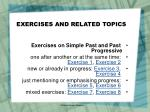 exercises and related topics
