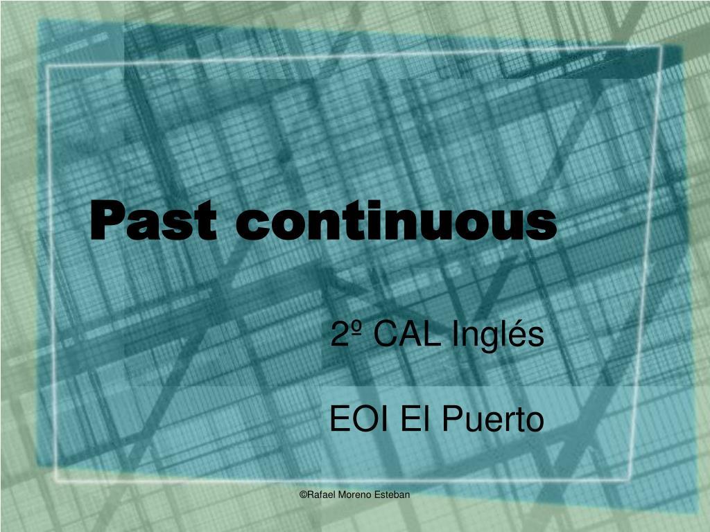 past continuous l.
