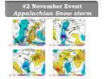 2 november event appalachian snow storm