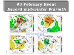 3 february event record mid winter warmth