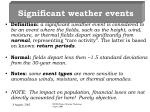 significant weather events