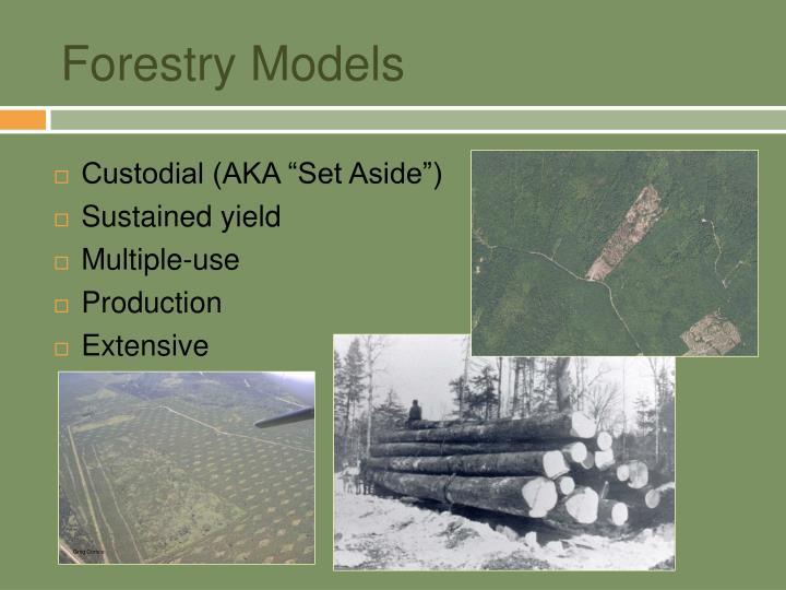 Forestry models