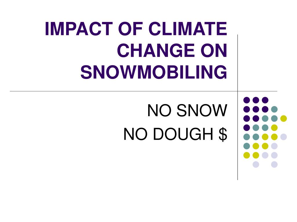 impact of climate change on snowmobiling l.