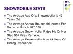 snowmobile stats