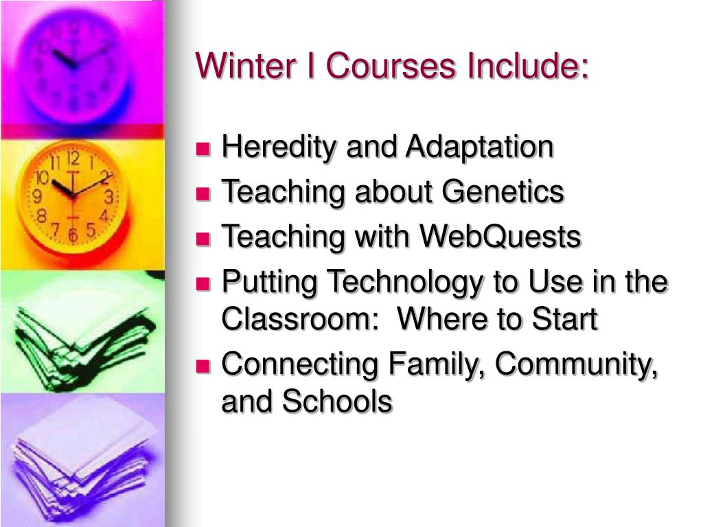 Winter I Courses Include: