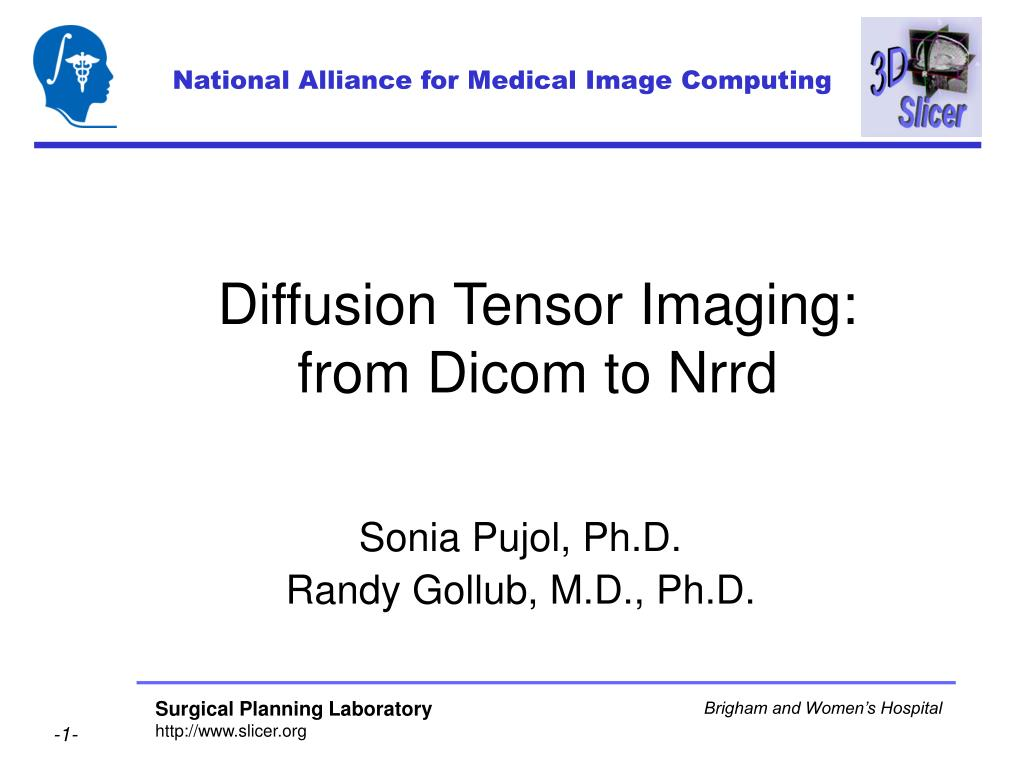 diffusion tensor imaging from dicom to nrrd l.