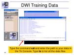 dwi training data