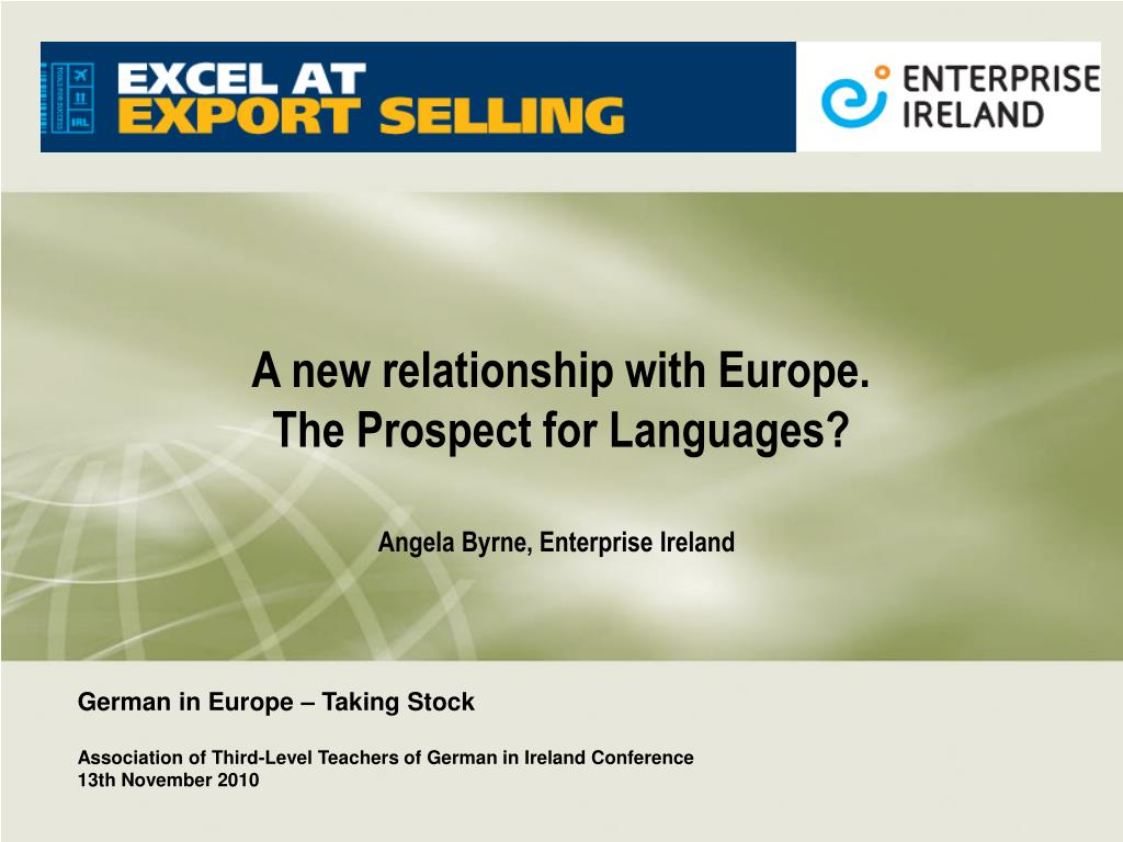 a new relationship with europe the prospect for languages l.