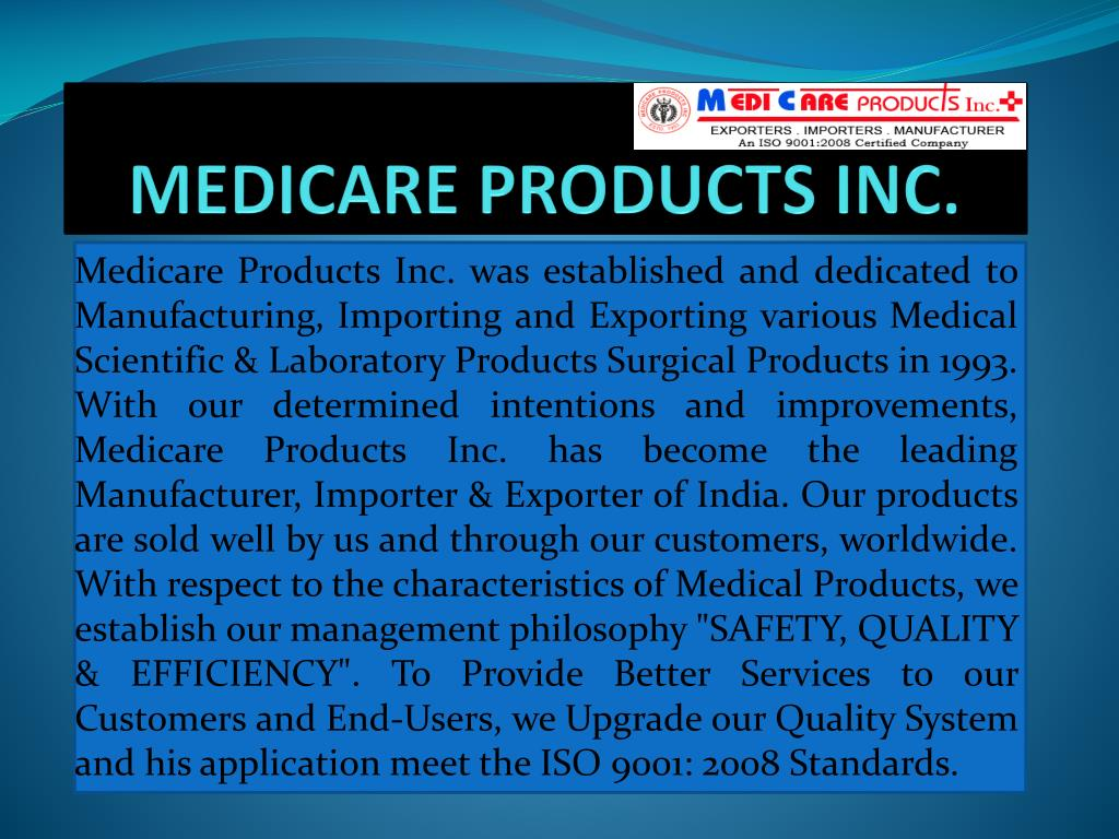 medicare products inc l.