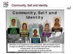 community self and identity21