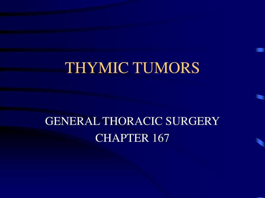 thymic tumors l.