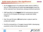 solid state physics the significance