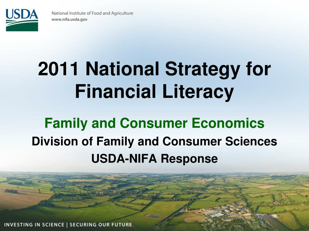 2011 national strategy for financial literacy l.