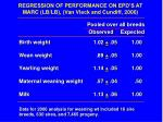 regression of performance on epd s at marc lb lb van vleck and cundiff 2006