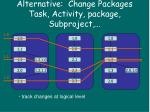 alternative change packages task activity package subproject