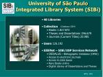 university of s o paulo integrated library system sibi