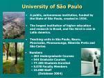 university of s o paulo