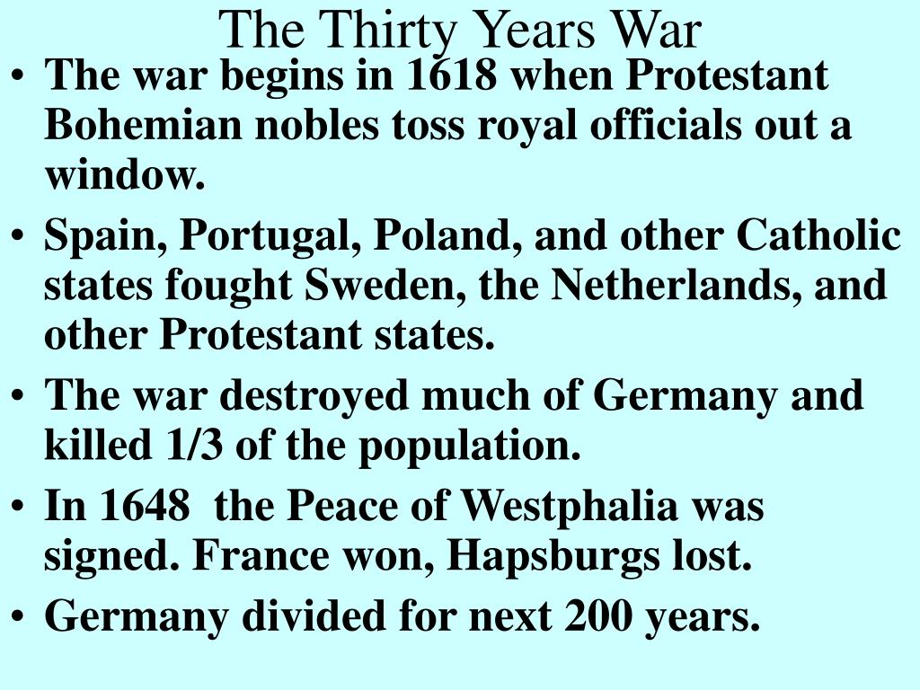 the thirty years war l.