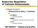 endocrine regulation of calcium homeostasis14
