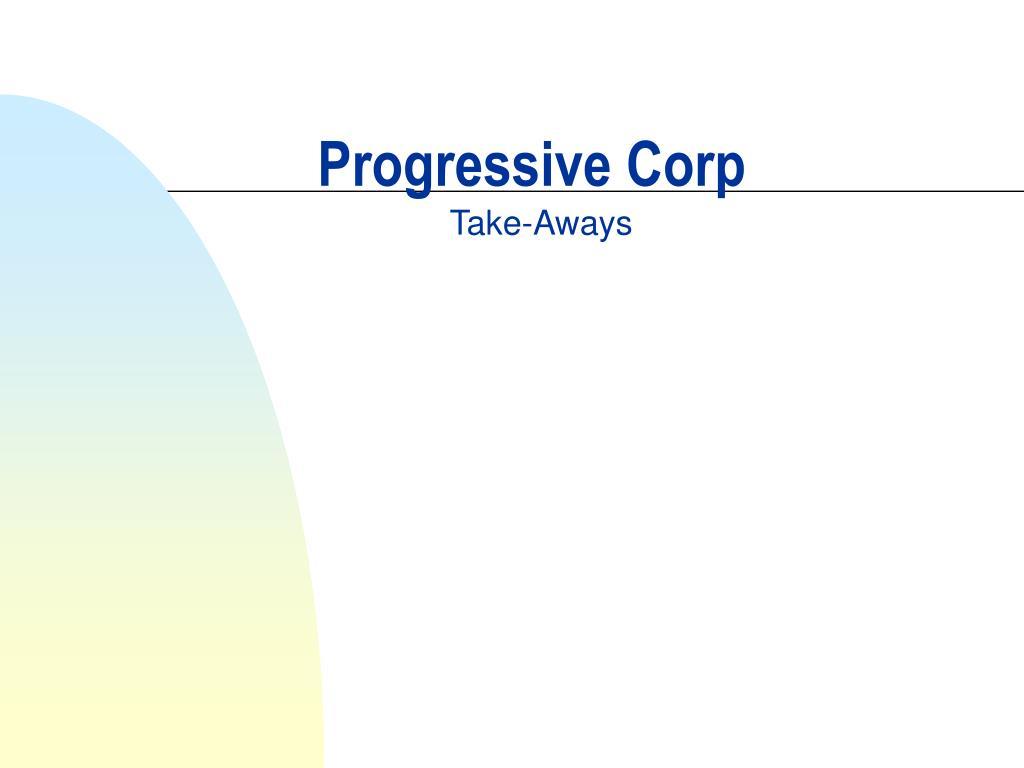 progressive corp l.