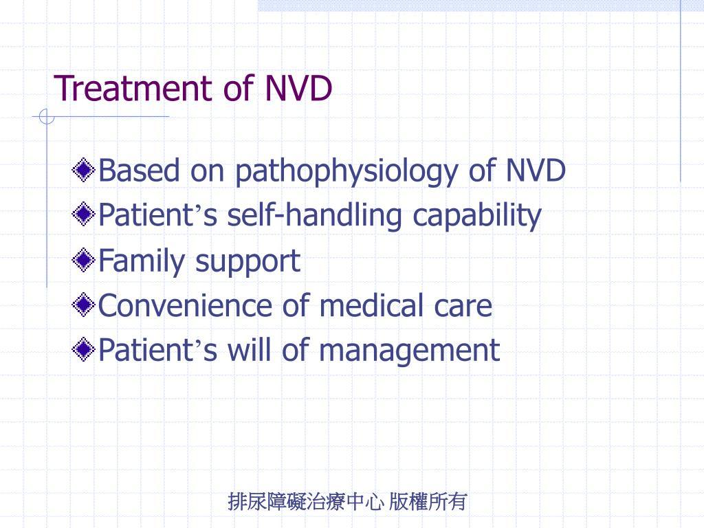 Treatment of NVD