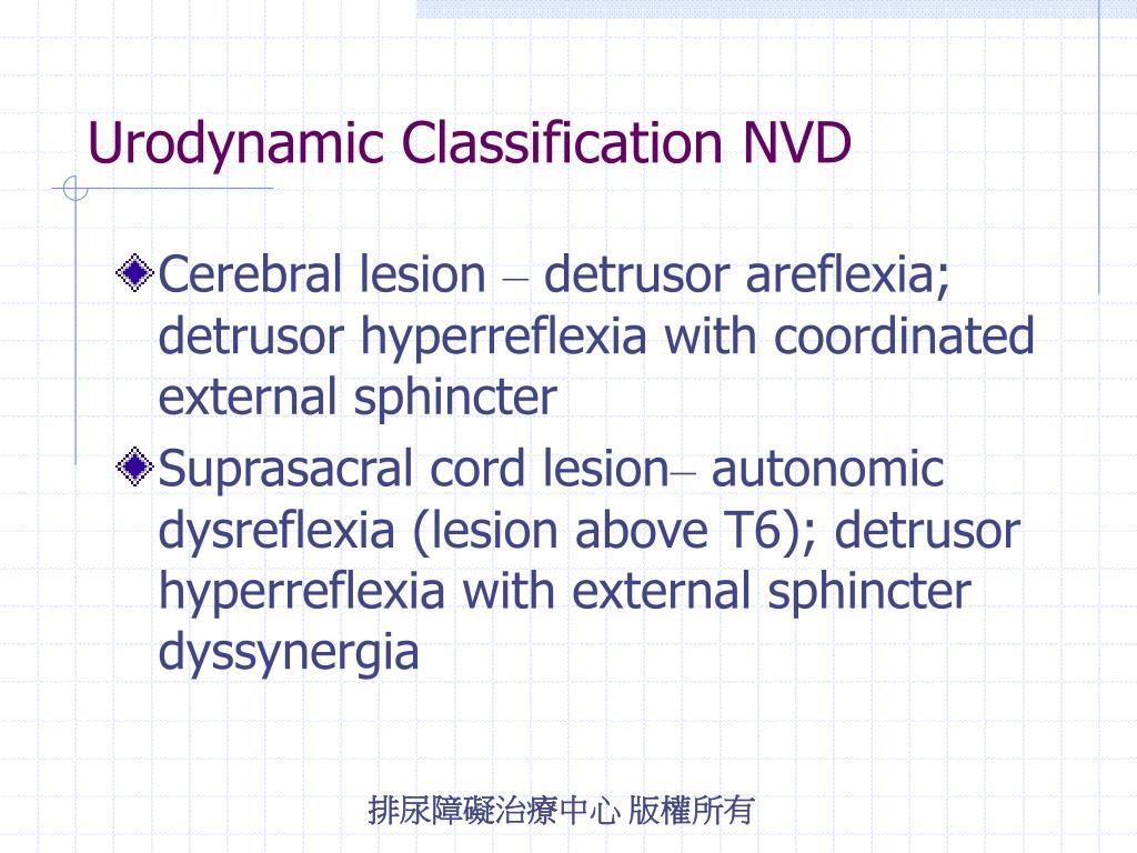 Urodynamic Classification NVD