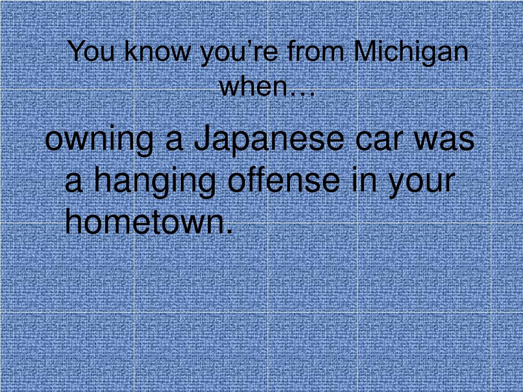 you know you re from michigan when l.