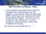 rdi fichman moses 1998