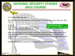 national security studies nss course