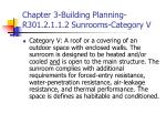 chapter 3 building planning r301 2 1 1 2 sunrooms category v
