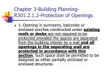 chapter 3 building planning r301 2 1 2 protection of openings