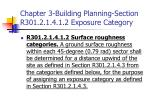 chapter 3 building planning section r301 2 1 4 1 2 exposure category