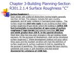 chapter 3 building planning section r301 2 1 4 surface roughness c