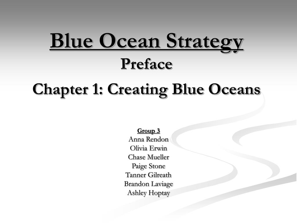 blue ocean strategy preface chapter 1 creating blue oceans l.