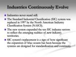 industries continuously evolve