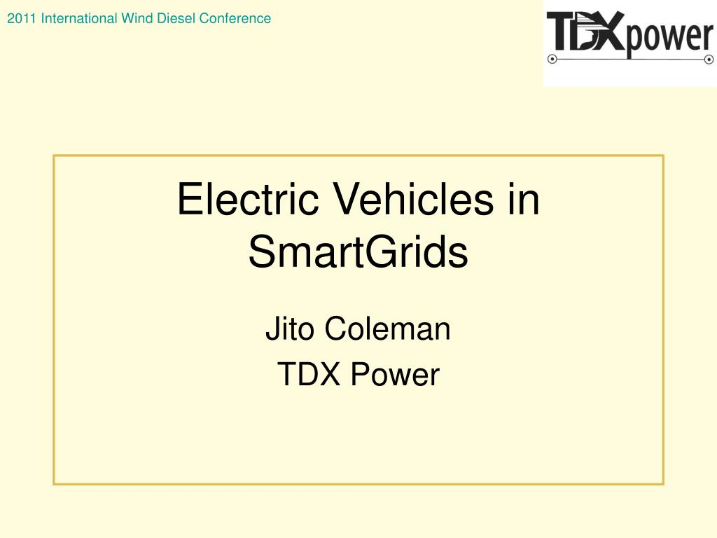 electric vehicles in smartgrids l.