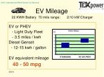 ev mileage 20 kwh battery 70 mile range 2 10 kw charger