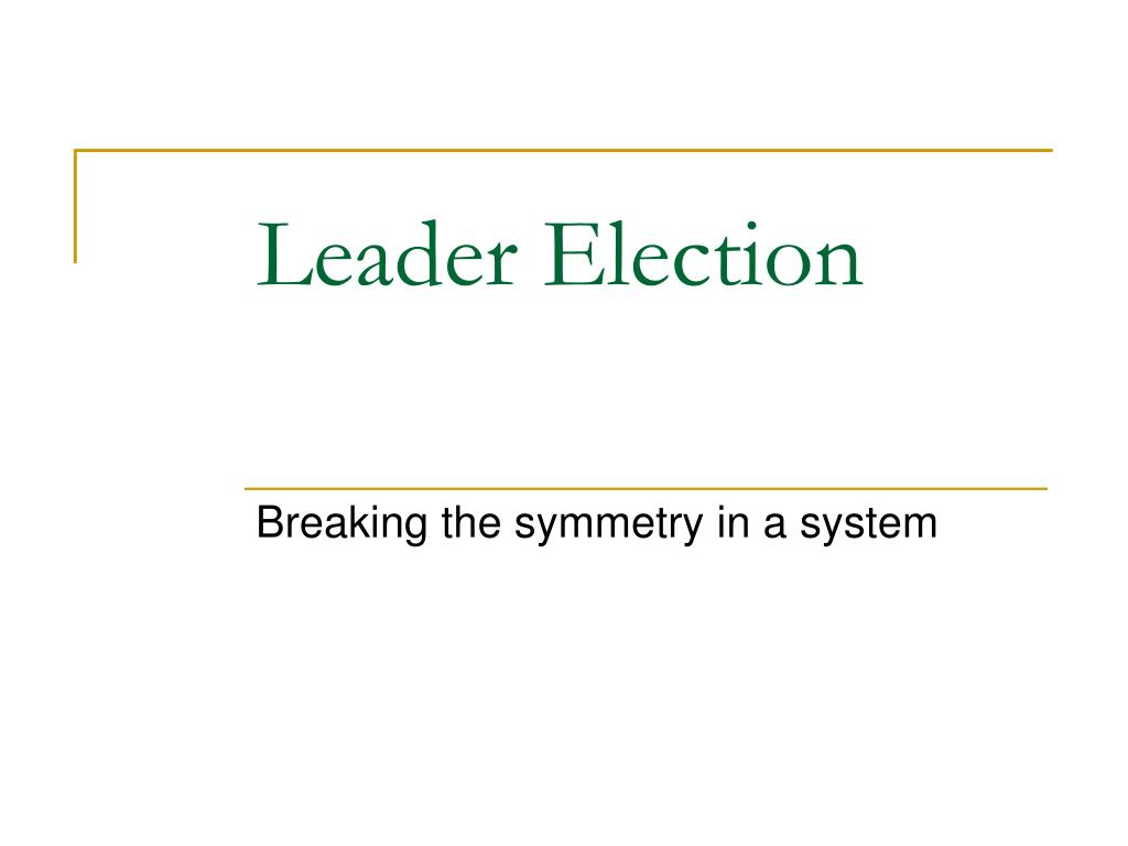 leader election l.