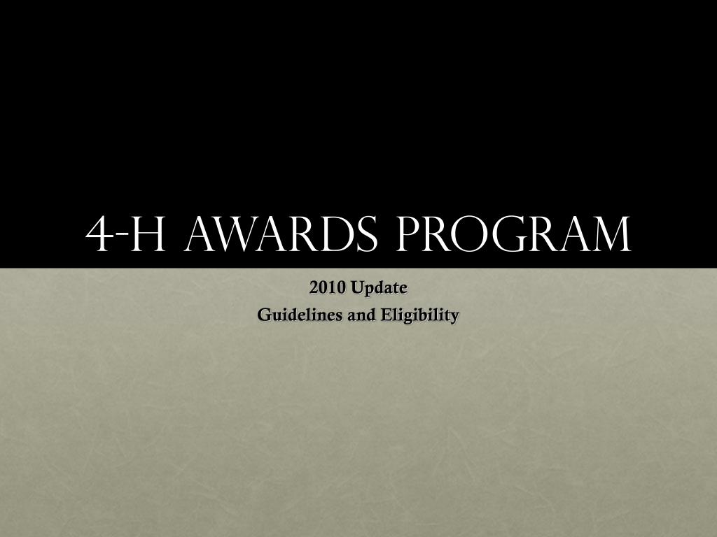 4 h awards program l.