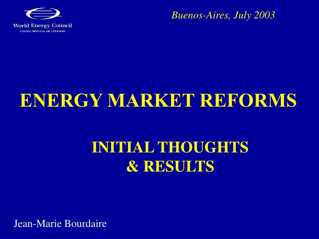 energy market reforms l.