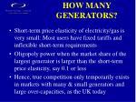 how many generators