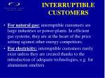 interruptible customers