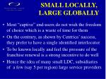 small locally large globally