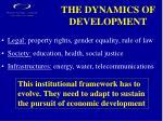the dynamics of development