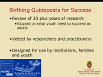 birthing guideposts for success